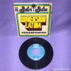 Discos de vinilo: SINGLE DIMENSION LATINA -- SABOR SALSA -- PARANPANPAN -- ESPAÑA 1976 --. Lote 227024745