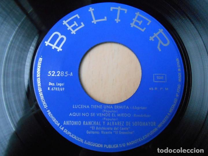 Discos de vinilo: ANTONIO RANCHAL y ALVAREZ DE SOTOMAYOR, EP, LUCENA TIENE UNA ERMITA + 3, AÑO 1969 - Foto 3 - 227027445