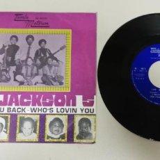 "Disques de vinyle: 1120- THE JACKSON 5 I WANT YOU BACK WHO´S LOVIN YOU - VIN 7"" POR VG DIS VG+. Lote 227032180"