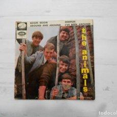 Discos de vinilo: THE ANIMALS CARPETA EP BOOM BOOM + 3 (SOLO PORTADA, NO EL VINILO) SUCIA DELANTE Y DETRÁS (FOTOS). Lote 227035905