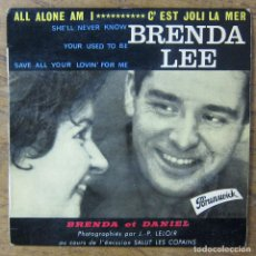 Discos de vinilo: BRENDA LEE - ALL ALONE AM I - SHE'LL NEVER KNOW / YOUR USED TO BE - SAVE ALL YOUR LOVIN' - 1962 -. Lote 227038820