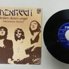 """Discos de vinil: 1120-NAZARETH BROKEN DOWN ANGEL - VIN 7"""" POR VG DIS VG+. Lote 227041055"""