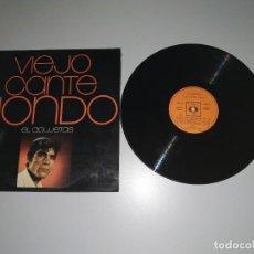 Discos de vinilo: 1120- EL AGUJETAS VIEJO CANTE JONDO ESPAÑA LP VIN POR VG DIS VG +. Lote 227052800