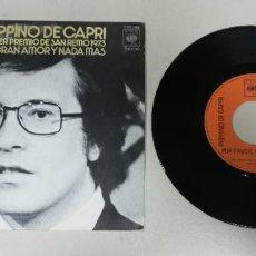 """Discos de vinilo: 1120-PEPPIÑO DE CAPRI PRIMER PREMIO DE SAN REMO - VIN 7"""" POR G+ DIS VG+. Lote 227054370"""