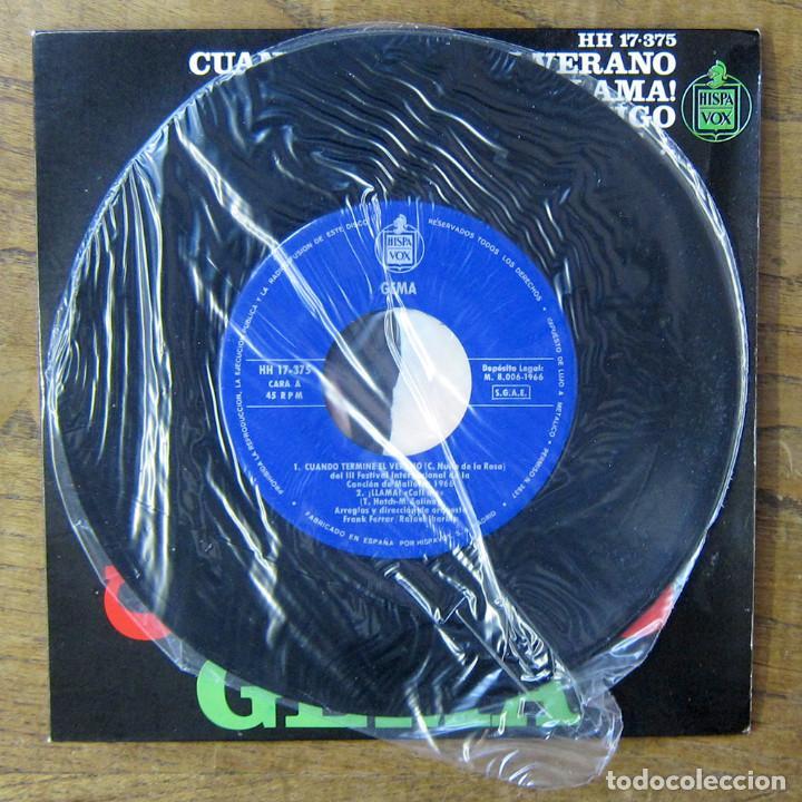 Discos de vinilo: GEMA - CUANDO TERMINE EL VERANO - LLAMA / QUIERO ESTAR CONTIGO - A TU LADO LOGRARÉ - 1966 - YE YÉ - Foto 4 - 227057575
