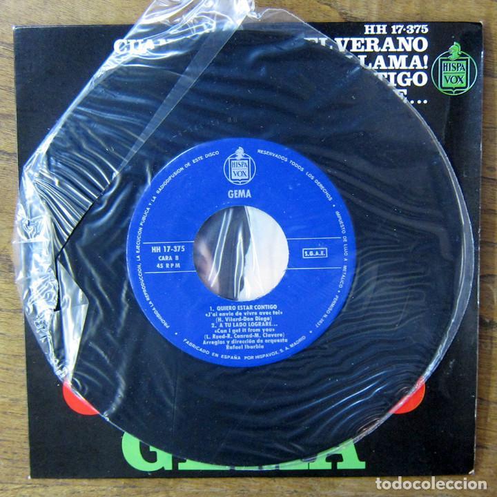 Discos de vinilo: GEMA - CUANDO TERMINE EL VERANO - LLAMA / QUIERO ESTAR CONTIGO - A TU LADO LOGRARÉ - 1966 - YE YÉ - Foto 5 - 227057575