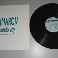 Discos de vinilo: 1120- CAMARON VOLANDO VOY REMIX ESPECIAL PROMO ES 1990 MAXI VIN POR VG + DIS NM. Lote 227064645