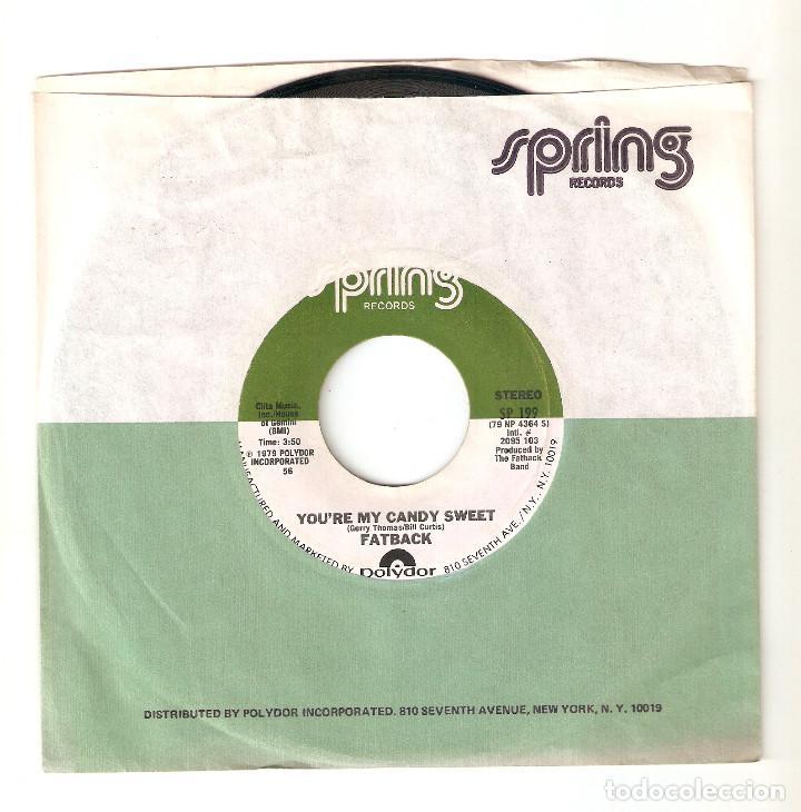 "FATBACK 7"" USA IMPORTACION 45 YOU´RE MY CANDY SWEET 1979 SINGLE VINILO HIP HOP FUNK SOUL DISCO RARO! (Música - Discos - Singles Vinilo - Rap / Hip Hop)"
