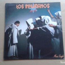 Discos de vinilo: LOS INHUMANOS - MANUE MAXI SINGLE 1985. Lote 227076425