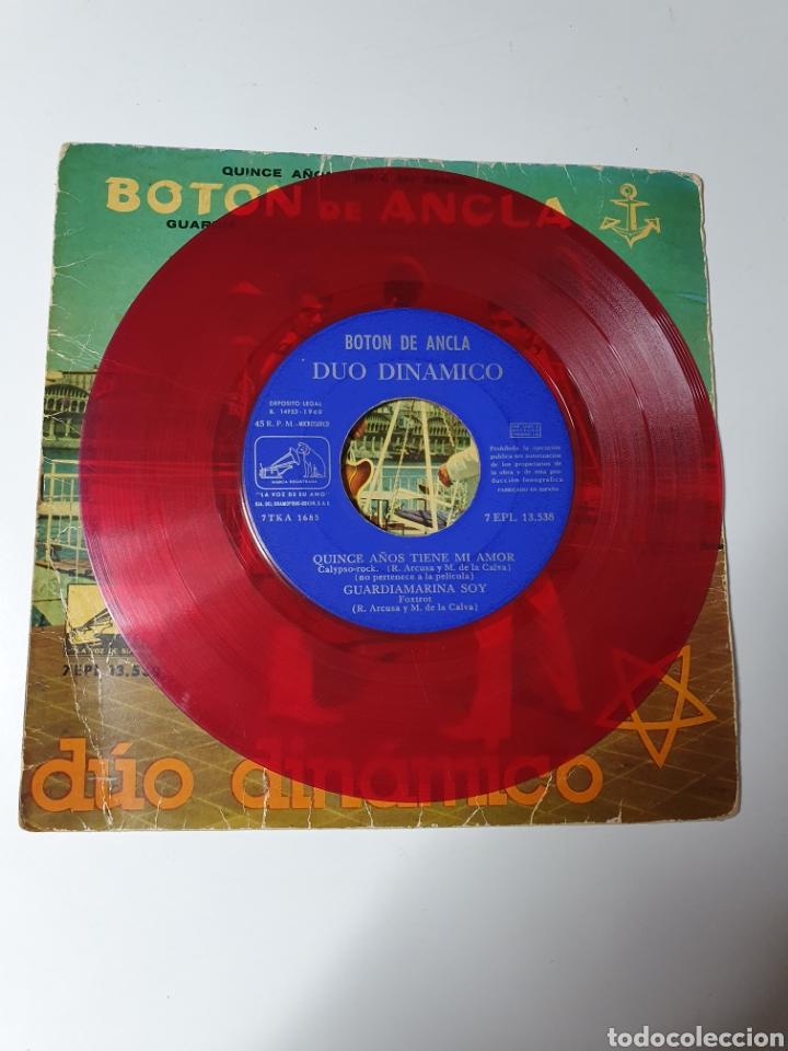Discos de vinilo: Dúo Dinámico - Quince Años Tiene Mi Amor/Guardiamarina Soy/Ahí En El Cielo/Oh Oh Blancaflor, rojo - Foto 3 - 227085760