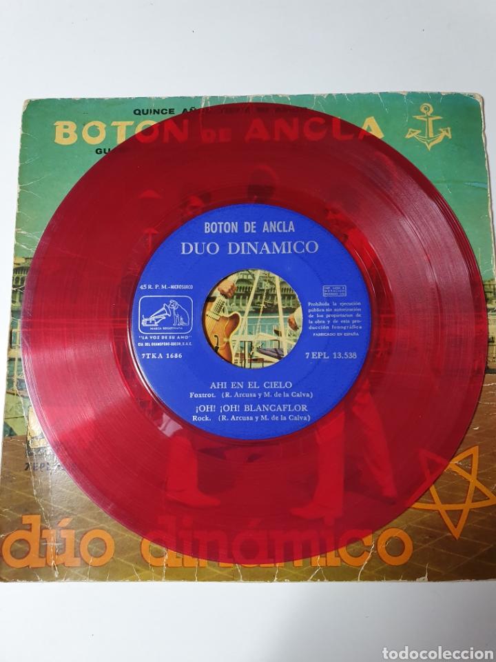 Discos de vinilo: Dúo Dinámico - Quince Años Tiene Mi Amor/Guardiamarina Soy/Ahí En El Cielo/Oh Oh Blancaflor, rojo - Foto 4 - 227085760
