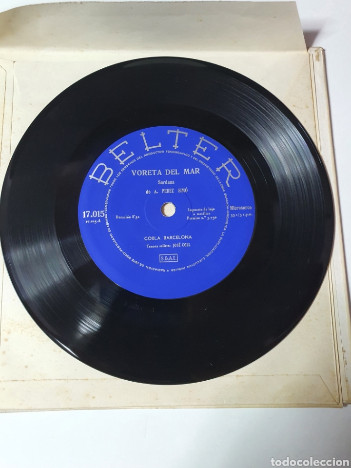 Discos de vinilo: Sardanes - Varela Del Mar / La Mes Bonica, Libro Belter, 17.015, 33 1/3 RPM. - Foto 6 - 227088410