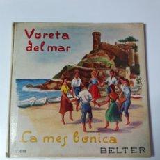 Discos de vinilo: SARDANES - VARELA DEL MAR / LA MES BONICA, LIBRO BELTER, 17.015, 33 1/3 RPM.. Lote 227088410