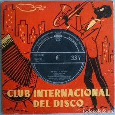 Discos de vinilo: JEAN SCAPIO & ENRICO DONALDI. DANCE A GOGO: C'EST SI BON/JALOUSIE/ CUMBACHERO/ MUSETTA, CID 1959. Lote 227101230