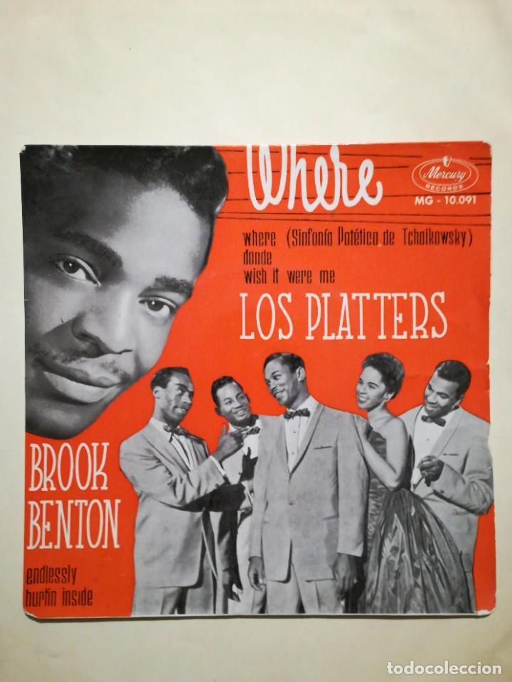 LOS PLATTERS / BROOK BENTON EP (Música - Discos de Vinilo - EPs - Funk, Soul y Black Music)
