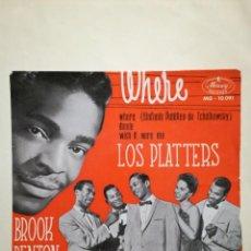 Discos de vinilo: LOS PLATTERS / BROOK BENTON EP. Lote 227105080