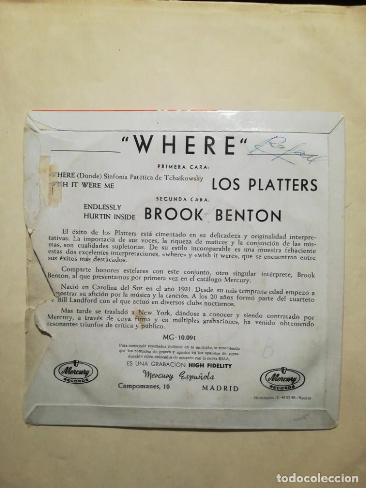 Discos de vinilo: Los Platters / Brook Benton EP - Foto 2 - 227105080
