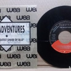Discos de vinilo: THE ADVENTURES / YOUR GREATEST SHADE OF BLUE / SINGLE 7 INCH. Lote 227128695