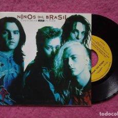 Discos de vinilo: SINGLE NIÑOS DEL BRASIL - LAS CURVAS DEL PLACER - ARLE 2002 - PROMO (NM/NM) 1 SIDED. Lote 227142770