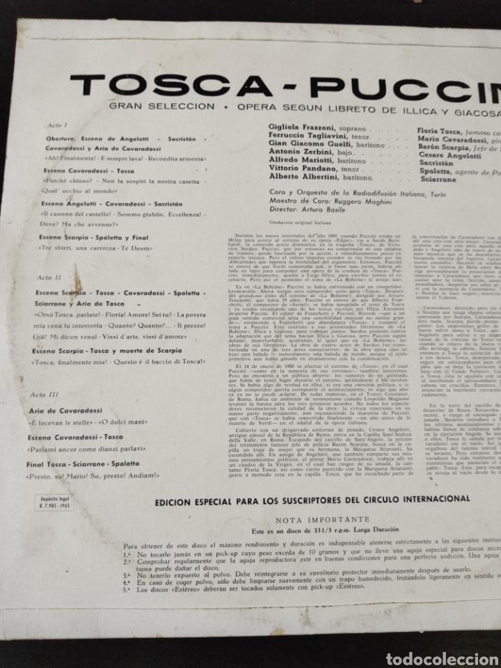 Discos de vinilo: Tosca Puccini - Foto 2 - 227153090
