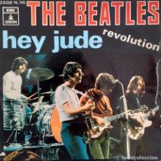 Discos de vinilo: BEATLES. HEY JUDE, REVOLUTION. Lote 227184817