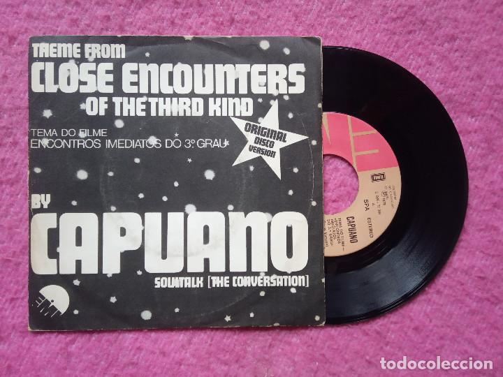 SINGLE CAPUANO - CLOSE ENCOUNT OF THE THIRD KIND - E 006-77 009 - PORTUGAL PRESS (VG+/NM) BSO (Música - Discos - Singles Vinilo - Bandas Sonoras y Actores)