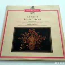 Discos de vinilo: J.S. BACH, PIERRE PIERLOT, GEORG RETYI, ORCHESTRE DE CHAMBRE PRO ARTE DE MUNICH, CONDUCTED BY KUR. Lote 227203125