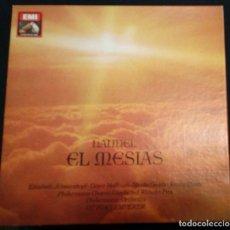 Discos de vinilo: HANDEL EL MESIAS (ÁLBUM DE 3 LP + LIBRETO). Lote 227213839
