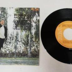"Discos de vinilo: 1120- DOMENICO MODUGNO EN ESPAÑOL- VIN 7"" POR VG DIS VG+. Lote 227216320"