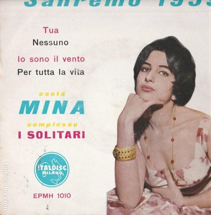 45 GIRI EP MINA IO SOON IL VENTO +3 ITALDISC EPMH 1010 ITALDISC SANREMO 1959 (Música - Discos de Vinilo - EPs - Canción Francesa e Italiana)