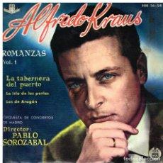 Discos de vinilo: ALFREDO KRAUS - ROMANZAS VOL. 1 - EP 1959. Lote 227226015