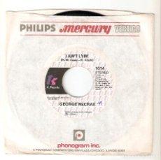 "Discos de vinilo: GEORGE MCCRAE 7"" USA IMPORTACION 45 I AIN´T LYING 1975 SINGLE VINILO FUNK SOUL R&B DISCO TK RECORDS. Lote 227226240"