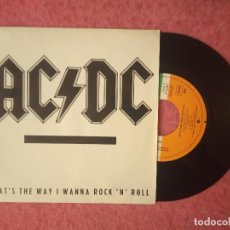 Dischi in vinile: SINGLE AC/DC - THAT'S THE WAY I WANNA ROCK' N' ROLL - ATLANTIC 934 - SPAIN PRESS (EX-/NM) PROMO. Lote 227254880