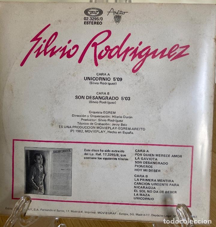 Discos de vinilo: SILVIO RODRIGUEZ, UNICORNIO. - Foto 3 - 227255615