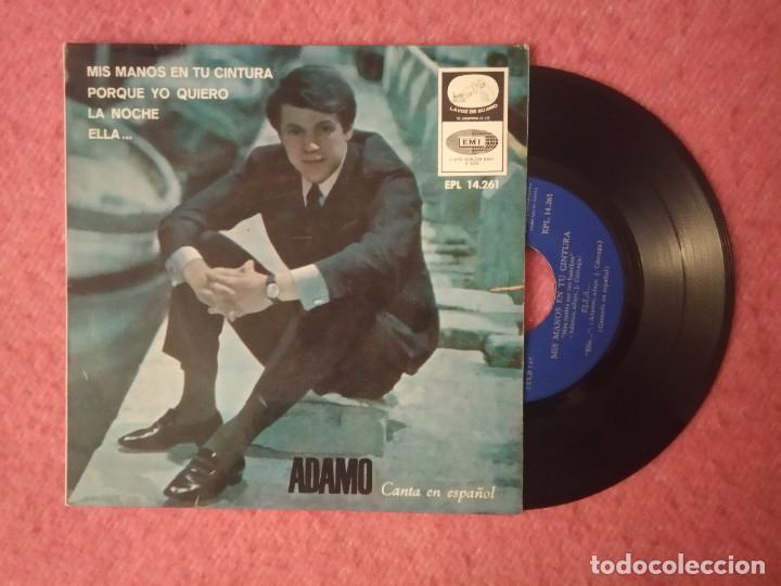 EP ADAMO - MIS MANOS EN TU CINTURA / PORQUE YO QUIERO +2 - EPL 14.261 - SPAIN PRESS (EX-/EX-) (Música - Discos de Vinilo - EPs - Canción Francesa e Italiana)