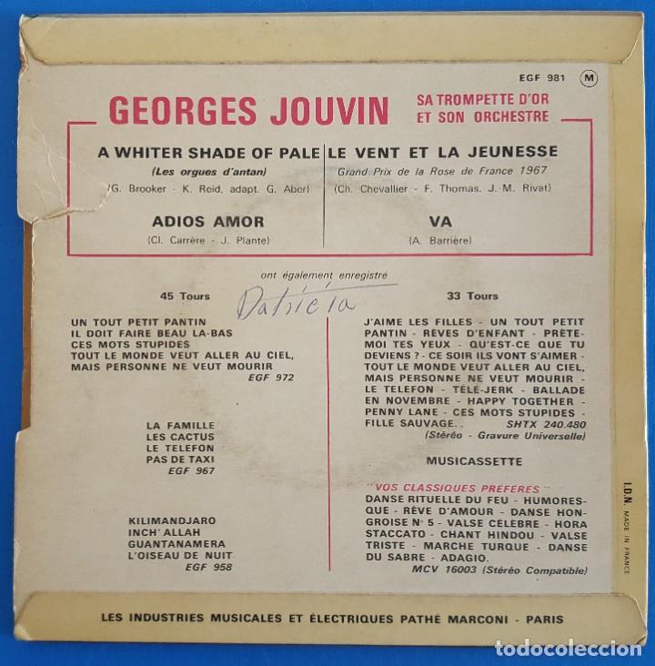 Discos de vinilo: EP / GEORGES JOUVIN - TROMPETTE DOR/A WHITER SHADE OF PALE - ADIOS AMOR- LE VENT ET LA JEUNESSE- VA - Foto 2 - 227274420