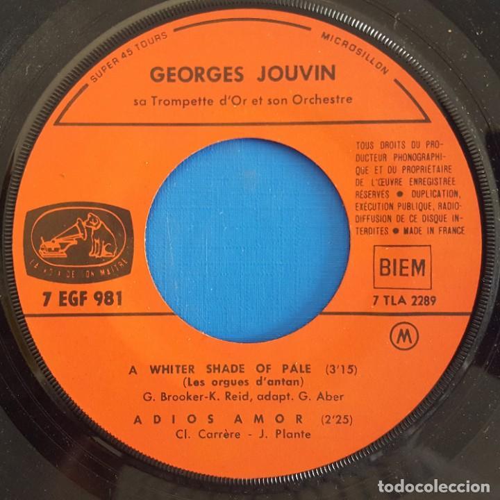 Discos de vinilo: EP / GEORGES JOUVIN - TROMPETTE DOR/A WHITER SHADE OF PALE - ADIOS AMOR- LE VENT ET LA JEUNESSE- VA - Foto 3 - 227274420