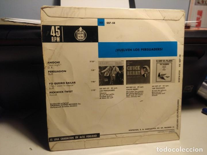 Discos de vinilo: EP THE PERSUADERS ( VUELVEN LOS PERSUADERS ) : ANOCHE + 3 - Foto 2 - 227274525