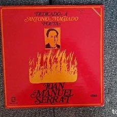 Discos de vinilo: JOAN MANUEL SERRAT - DEDICADO A ANTONIO MACHADO. EDITADO POR ZAFIRO. AÑO 1.969. CARÁTULA DOBLE. Lote 227277396
