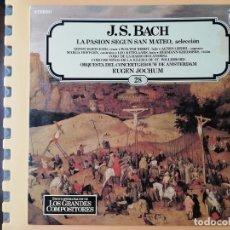 Disques de vinyle: ENCICLOPEDIA SALVAT DE LOS GRANDES COMPOSITORES. Nº 28 - JOHANN SEBASTIAN BACH. Lote 242928460