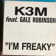 Discos de vinilo: K3M FEAT. GALE ROBINSON - I'M FREAKY - 12'' MAXISINGLE BOY 1994. Lote 227459965