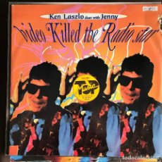 Disques de vinyle: KEN LASZLO & JENNY - VIDEO KILLED THE RADIO STAR - 12'' MAXISINGLE 21ST CENTURY 1997. Lote 227461090