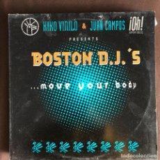Discos de vinilo: KIKO VINILO & JUAN CAMPOS BOSTON DJ'S - MOVE YOUR BODY - 12'' MAXISINGLE KIDESOL 1997. Lote 227461615