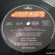 Discos de vinilo: JUST MICHAEL - TIME TO WONDER / MAXI SINGLE IMPORT PROMO TEMAZOS RUTA DESTROY VALENCIA. Lote 227462590