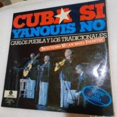 Discos de vinilo: CARLOS PUEBLA Y LOS TRADICIONALES - CUBA SI, YANQUIS NO..2 LP. Lote 227463279