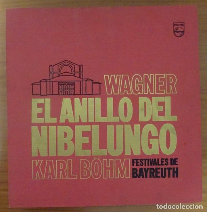 RICHARD WAGNER EL ANILLO DEL NIBELUNGO KARL BÖHM FESTIVALES DE BAYREUTH (16 LP) (Música - Discos - LP Vinilo - Clásica, Ópera, Zarzuela y Marchas)