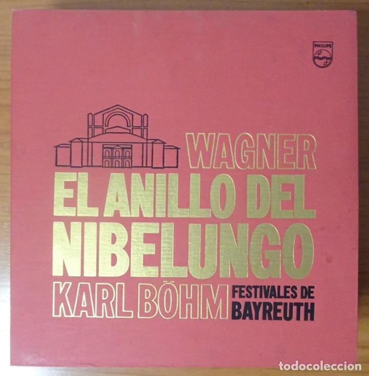 Discos de vinilo: RICHARD WAGNER EL ANILLO DEL NIBELUNGO KARL BÖHM FESTIVALES DE BAYREUTH (16 LP) - Foto 2 - 227567145