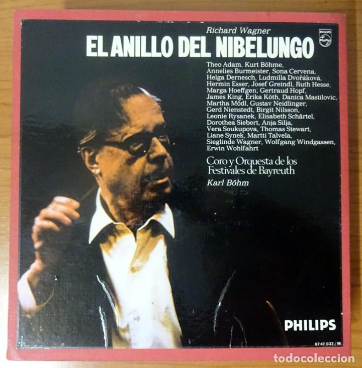 Discos de vinilo: RICHARD WAGNER EL ANILLO DEL NIBELUNGO KARL BÖHM FESTIVALES DE BAYREUTH (16 LP) - Foto 3 - 227567145