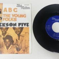 "Disques de vinyle: 1120- THE YOUNG FOLKS THE JACKSON FIVE - VIN 7"" POR VG DIS NM. Lote 227578075"