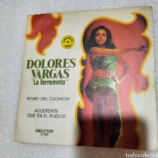 """Discos de vinilo: DOLORES VARGAS """" LA TERREMOTO """"- RITMO DE CUCHICHI. Lote 227589835"""
